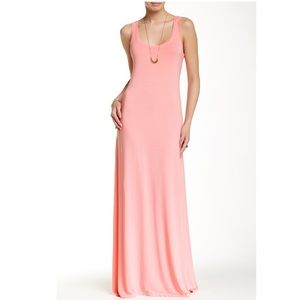 Michael Stars Tank Maxi Dress Coral Blush